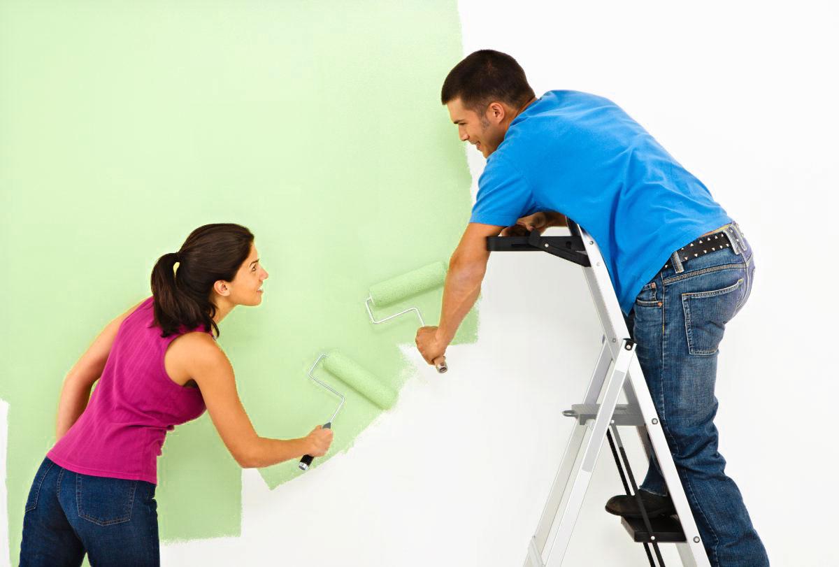 Dịch vụ sơn nhà sử dụng cách lăn sơn cho tường nhà đẹp hơn