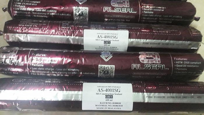 1 trong 6 loại keo chống dột mái nhà ở - keo AS-4001SG chống dột