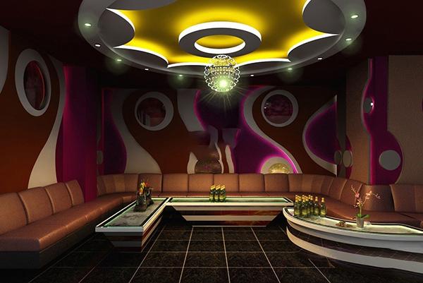 Mẫu trần thạch cao phòng karaoke