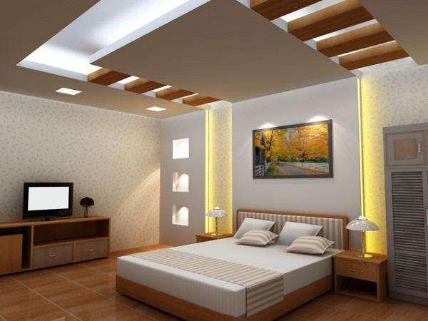 trần thạch cao đẹp cho phòng ngủ ba mẹ