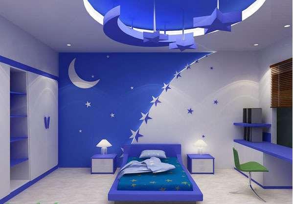 trần thạch cao đẹp cho phòng em bé