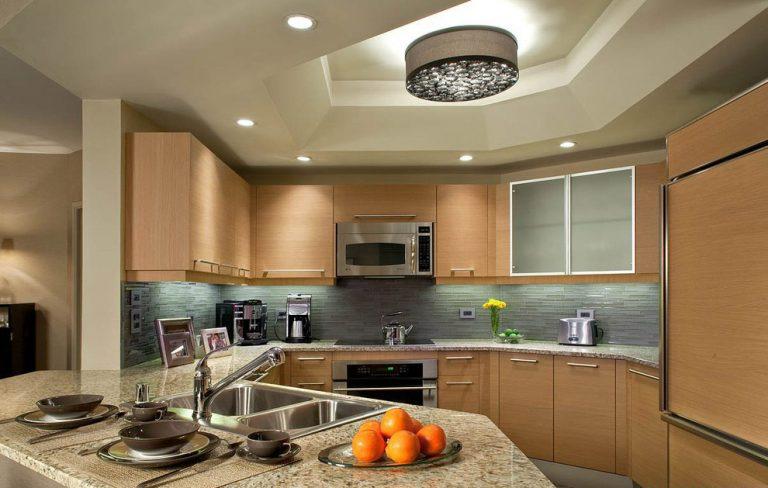 trần thạch cao đẹp cho nhà bếp