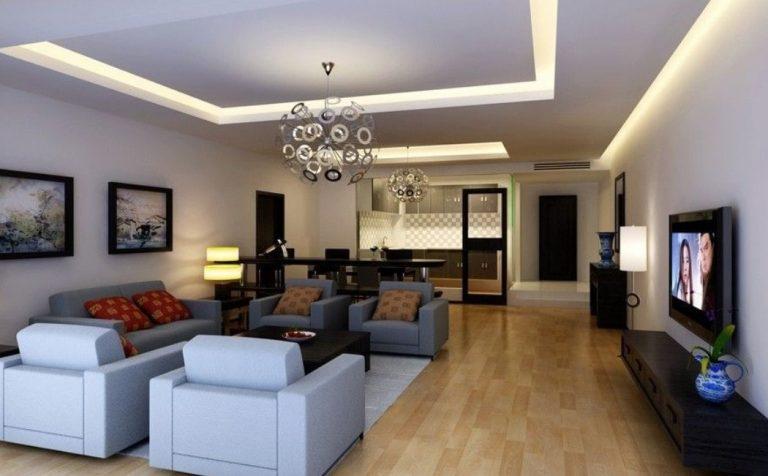 trần thạch cao đẹp cho phòng khách gia đình