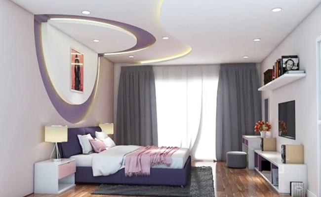 Làm trần thạch cao phòng ngủ