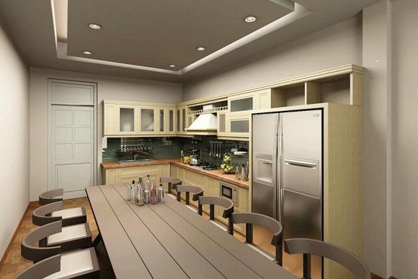 mẫu trần thạch cao đẹp cho phòng bếp