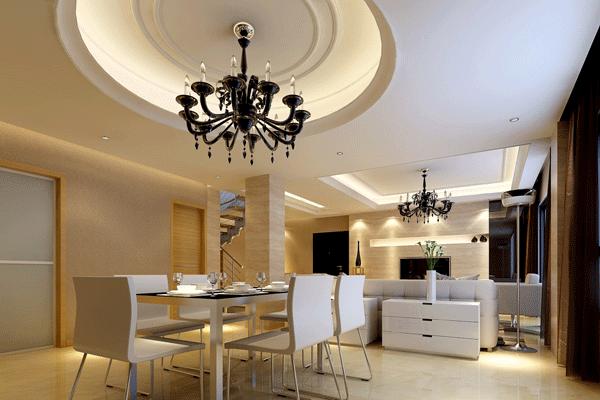 trần thạch cao phòng bếp liền kề phòng khách